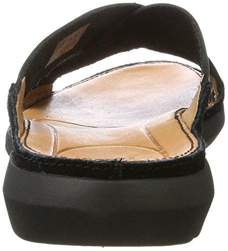 Clarks Trisand Cross, Sandales Bout Ouvert Homme Noir (Black Leather)