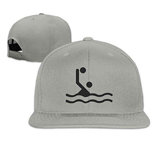 yiyuanyuantu Swim Water Polo Washed Unisex Adjustable Flat Bill Visor Baseball Cap