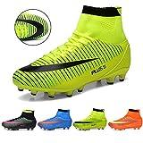 J&T Botas de Fútbol Adolescentes AG Profesionales Aire Libre Atletismo Turf Training Zapatos de Fútbol