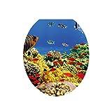 WC Sitz Wandaufkleber Spülwassers Vinyl Kunsttapete Bad Abziehbilder für Toiletten Deckel - Unterwasserwelt