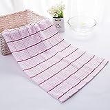 DIDIDD Serviette en coton uni confortable et souple,B