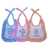 Littly Premium Baby Bibs with Frill, Pac...