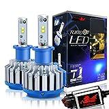 WinPower H3 LED Phare Ampoules Tout en un Kit de conversion CREE 70W 7200Lm 6000K Effet xénon Blanc froid Lampe, 2 pièces