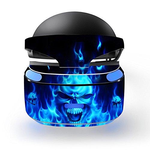Feicuan Cool Design Wrap Decal Skin Cover Aufkleber für PSVR Playstation VR Headset -J049 (Vinyl Halloween Scratch)