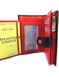 Francinel [L8721] - Portefeuille 'Les Bicolores' noir rouge