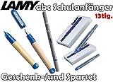 LAMY abc Schulanfänger Füllfederhalter BLAU + Drehbleistift [Starter-/Geschenkset] inkl. 2 Päckchen Tintenpatronen = 10Stk. & Tintenkiller M