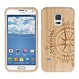 kwmobile Samsung Galaxy S5 Mini G800 Hülle - Handy Bambus Schutzhülle - Cover Case Handyhülle für Samsung Galaxy S5 Mini G800