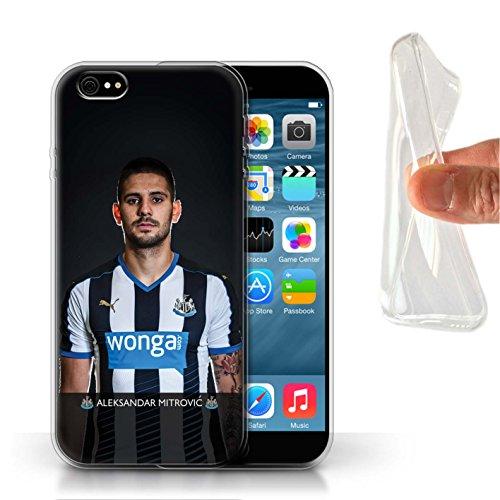 Offiziell Newcastle United FC Hülle / Gel TPU Case für Apple iPhone 6S / Pack 25pcs Muster / NUFC Fussballspieler 15/16 Kollektion Mitrovic