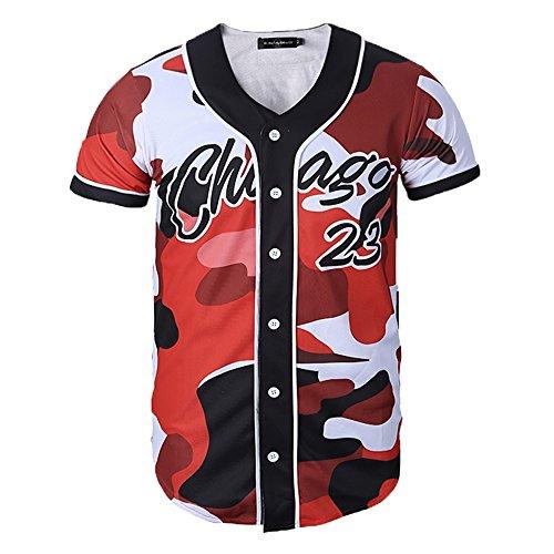 Yonbii Herren T-Shirt Jersey-14 Jersey-14