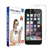 CELLBELL Apple iPhone 8 Plus Tempered Glass Screen Protector Guard With Installation Kit