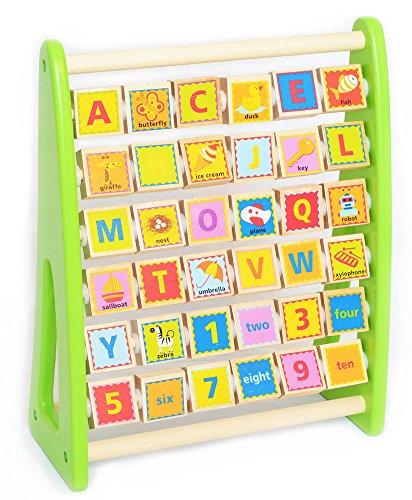 Tooky Toy - Alphabet Abacus mit Englischem Vokabular (Abacus Für Kinder)