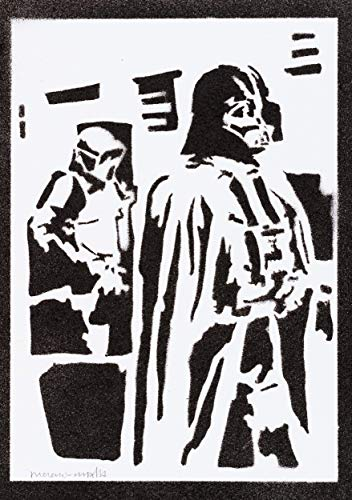 Darth Vader STAR WARS Poster Plakat Handmade Graffiti Street Art - Artwork (Comic Buch Stil Kostüm)