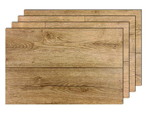 8er Premium Tischsets Holzoptik Eiche Antik Braun (rechteckig, abwaschbar, PVC, ca.43,5x28,5cm, ca.2,0mm, ca.160g)