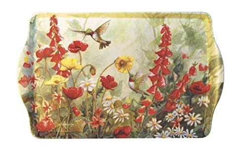 15 Hummingbird Garden Melamine Handled Serving Tray by SBF Gifts