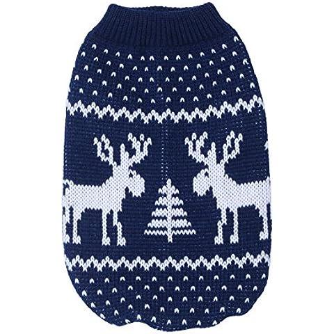 LianLe® Suéter perro Navidad Alce Ropa invierno para mascotas