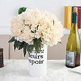 Unechte Blumen,Künstliche Deko Blumen Pfingstrose Seide Blumen Blumenstrauß zu Hause Braut Hochzeitsparty Europäische Stil Blumen Dekoration 6 Köpfe (Champagner Gold)