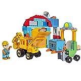 #1118 Bausteine Werkstatt mit Baggi und Türmer Bob der Baumeister • Kinder Spielzeug Fahrzeuge Bagger Set