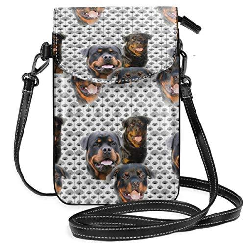 Suminla-Home Kleine Handybörse mit abnehmbarem Riemen für Rottweiler, Disteln, Smartphone, Geldbörse (Rottweiler Geldbörse)