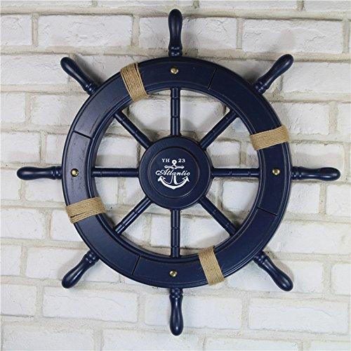 SU@DA Im mediterranen Stil eingerichtet Handwerk Ornamenten Holzruder 62 cm , 62cm blue