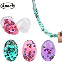 Swallowzy Mud Egg with Pearl Colorful Soft Slime Crystal Clay Stress Relief Toy Sludge Toys (