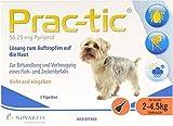 PRAC tic f.sehr kl.Hunde 2-4,5 kg Einzeldosispip. 3 St Einzeldosispipetten
