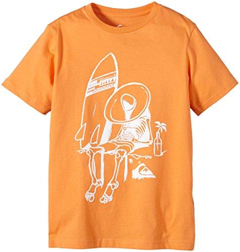 Quiksilver, Maglietta a maniche lunghe Bambino, Arancione (Tangerine), M