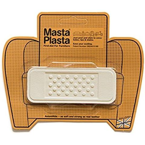 Avorio MastaPlasta autoadesiva in pelle riparazione Patch. Taglia A scelta/Design. Pronto soccorso per divani, sedili (Pelle Italiana Del Sofà)