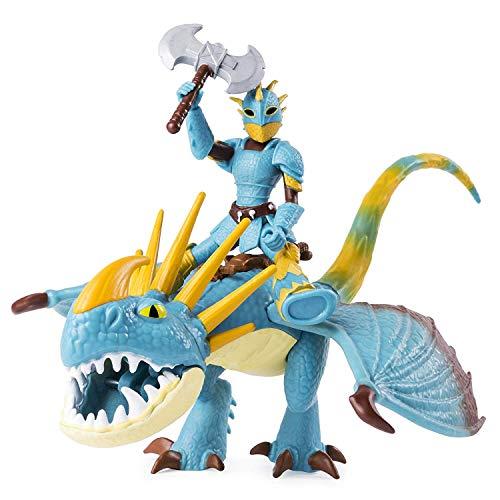 Dreamworks Dragons 6052269 - Movie Line, Dragon & Vikings, Sturmpfeil und Astrid (Solid), Actionfiguren Drache & Wikinger, Drachenzähmen leicht gemacht 3, Die geheime Welt