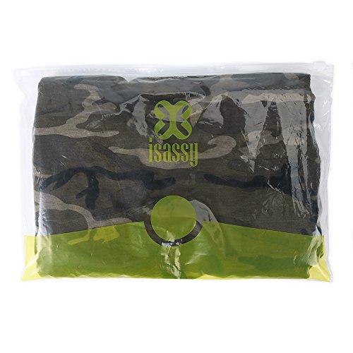ISASSY Damen Slim Lamarmshirt grün grün 36 Grün