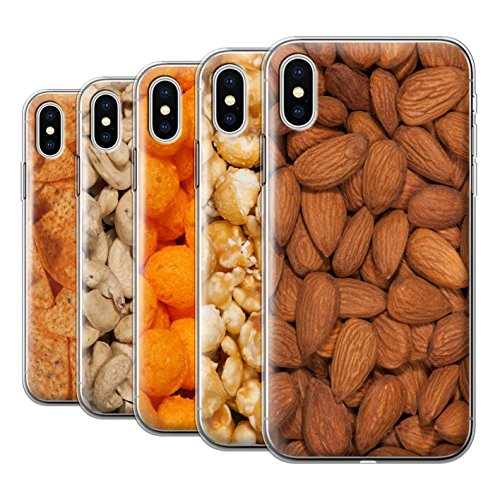 Stuff4 Gel TPU Hülle / Case für Apple iPhone X/10 / Doritos Muster / Imbiss Kollektion Pack 17pcs