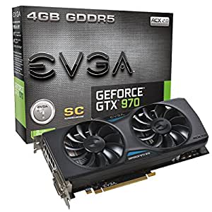 EVGA Scheda Grafica GeForce GTX 970 Superclocked ACX 2.0 , 4GB (3.5GB+0.5GB)