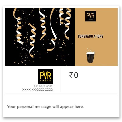 PVR Cinemas - Instant Voucher||Get Rs.50 off on Rs.500 and above ||Use Promo Code PVRCIN50