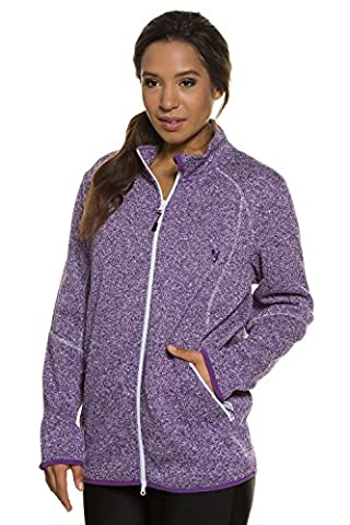 Ulla Popken Women's Plus Size Zipper Front Fleece Jacket Violet 20/22 708780 81-46+