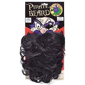 NEW BLACK BEARD WAVY STYLE PIRATE FANCY DRESS (accesorio de disfraz)