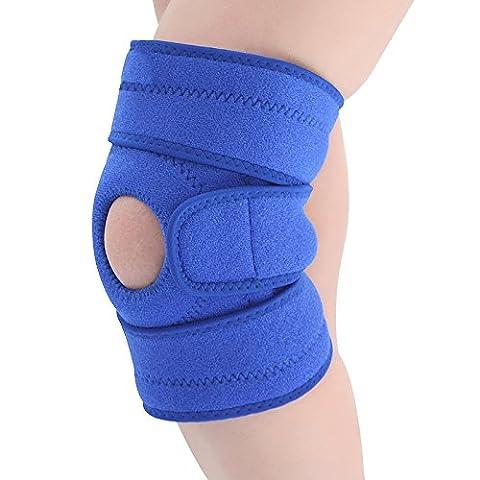 Cooko Genouillère Support Rotule du genou en néoprène avec ressort en acier (Design respirant)