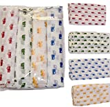 #10: Rio Pure Cotton Baby Cloth Swaddle - 0-12 Months - Multi Color Pack of 4
