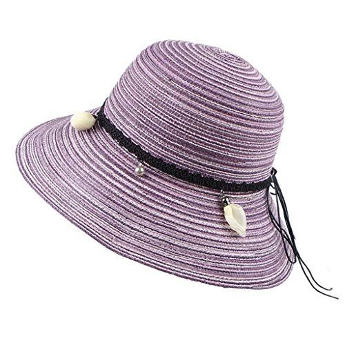 QUINTRA Hut lässig breiter Krempe Band für Frauen Hut Eimer Sommer Sonnenhut Faltbare Strandkappe