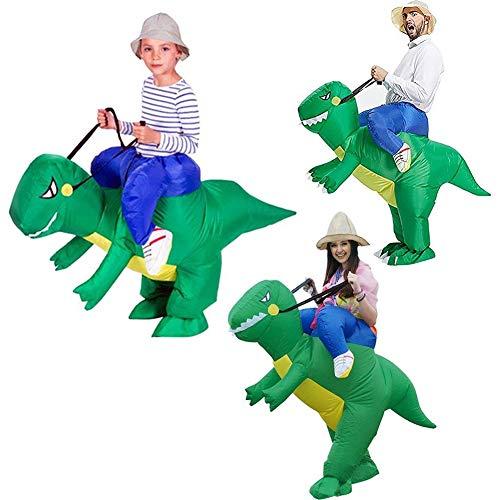 Honey MoMo Dinosaurier-Kost¨¹m,Kinder Erwachsene Aufblasbare Cartoon Fahrt Dinosaurier Halloween Party Rollenspiel Kost¨¹m - M (Erwachsene Halloween Desserts)