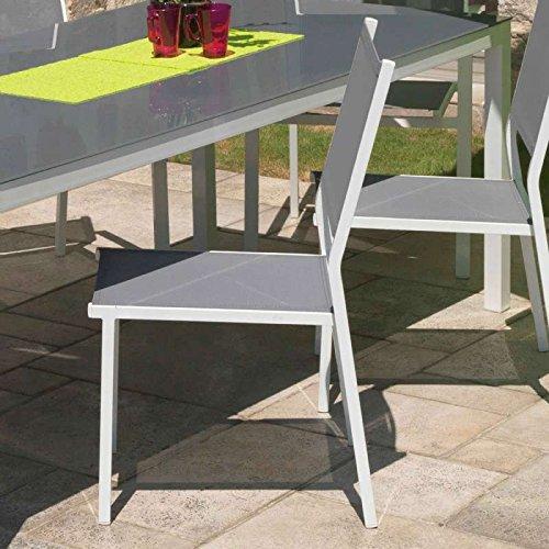 Chaise de jardin girona alu et textilène