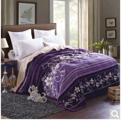 Preisvergleich Produktbild BDUK Home Vertrag beidseitig mit Decken, Lamm, Wolldecken, E,200*230cm 6 Catties-Emulation