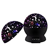 CalMyotis® Stern Projektor Nachtlicht, 360 Grad drehender Starlight Stern Himmel Projektor Romantische Geburtstags Weihnachtsbaby Kinderschlafzimmer Nachtlampe