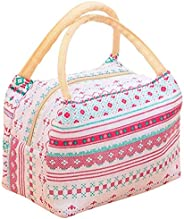 Insulated Lunch Bag Thermal Stripe Tote Bags Picnic Food Lunch box bag for Women Girls Ladies Kids