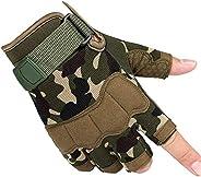 Knuckle Protective Gloves, Mens Tactical Fighting Gloves,Outdoor Sports Half Finger Gloves for for Motorbike H