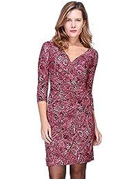 3bbe3e4cb68d1 Revdelle - Robe Cache Coeur col en V Made in France Manches Longues pour  Femme Myriam
