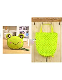 Green Frog : Huachnet Foldable Reusable Bag Grocery Shopping Tote Bag (Green Frog))