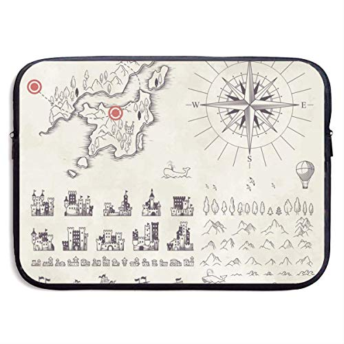Set in Medieval Cartography 13-15 Inch Laptop