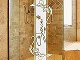 Graz Design 980200_30 Glasdekor Fensterfolie Duschkabine für Badezimmer Spruch Blumen Shower (Größe=79x30cm)