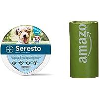 Seresto Collare Antiparassitario per Cani fino a 8Kg & AmazonBasics Sacchetti igienici per cani con additivi certificati…