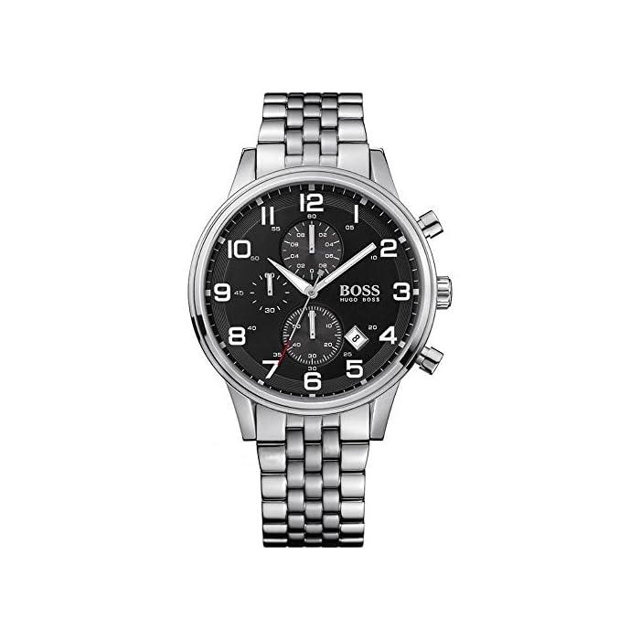 Hugo Boss Herren-Armbanduhr Analog Quarz Edelstahl 1512446 1