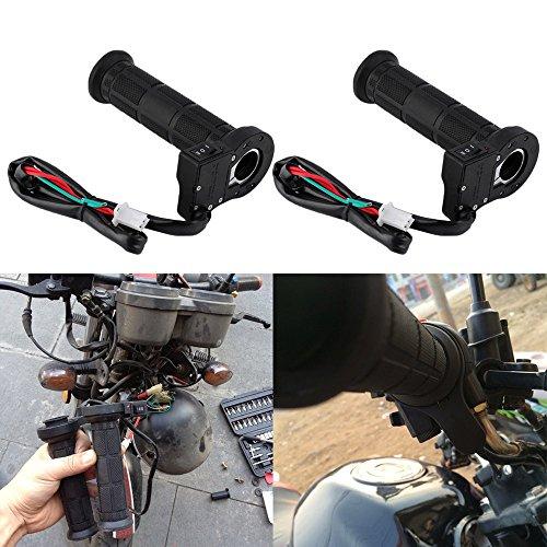 Alomejor Poign/éE DAcc/éL/éRateur de V/éLo Poign/éEs de Bicyclette en Cuir Lock avec Affichage /à LED pour Moto Moto E-Bike